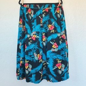 Maggie McNaugton Black & Blue Tropical Skirt